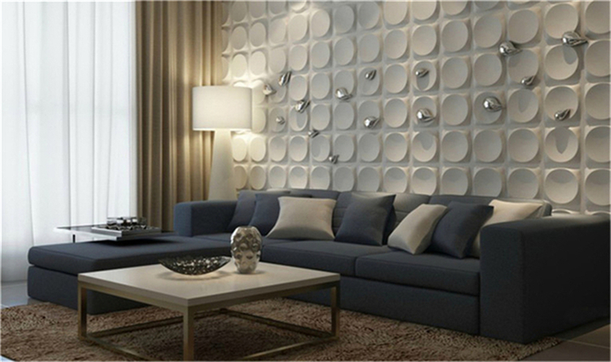 2018 pvc wall panel home decorative paintable pvc 3d wall panel